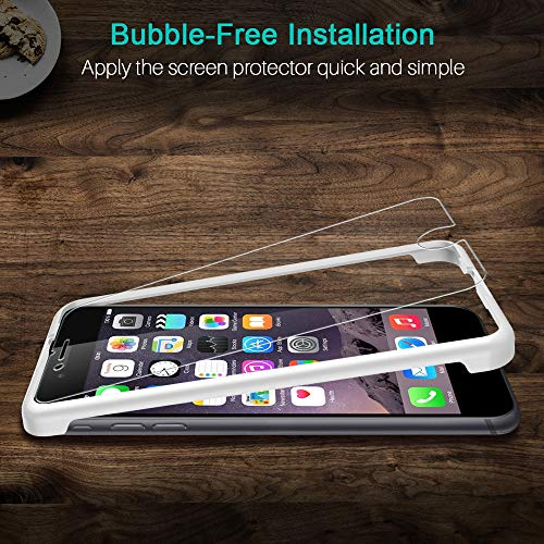 LK [3 Pack] Screen Protector for iPhone 6 Plus/iPhone 6S Plus Tempered Glass (Alignment Frame Easy Installation) 3D Touch DoubleDefence Technology, HD Clarity, Bubble Free, Case Friendly