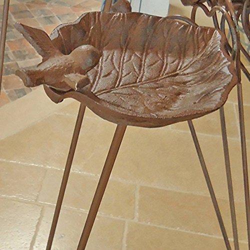 Vogelhaus aus Gusseisen, Blatt