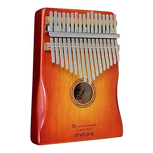 Onetone Karinba (Thumb Piano) 17 Key Beginner's Set, Octane Wood, OTKL-CS/OK (Exclusive Case/Cross/Finger Sack/Key Sticker/Adjusting Hammer/Japanese Manual & Music Book Included)