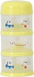 Yomilock 3-Layer Antibiotic Milk Powder Container / Dispenser Yellow - Made In Korea