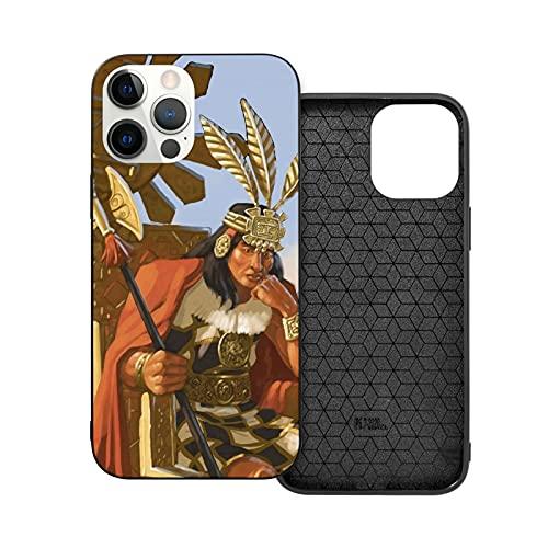 ZHJH - Custodia per iPhone 12/Pro/Mini/Pro Max, motivo: giovane nativo e anti-macchia, motivo: piume con lupi