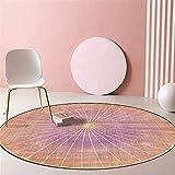 Alfombra redonda moderna y elegante Alfombra rosa pálido simple y encantadora, para sala de estar, dormitorio, sofá, mesita de noche, guardarropa, silla, alfombra, habitación de niños, antideslizante