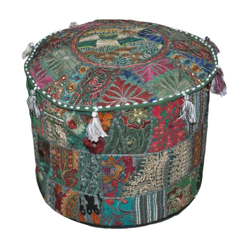 Indian Traditional Home Decorative Ottoman Handmade