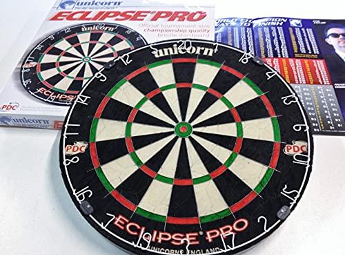 Unicorn Einhorn Eclipse Pro Borsten Dartboard, Schwarz, Einheitsgröße