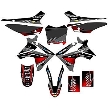 Senge Graphics Kit Compatible with Honda 2013-2018 CRF 110 Merica MATTE BLACK Graphics kit