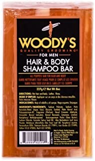 Woody's - Hair & Body Shampoo Bar 8 Oz by Woody's For Men [並行輸入品]