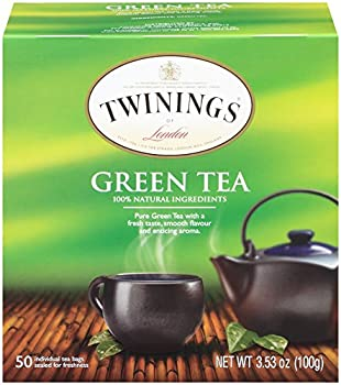 Twinings of London Pure Green Tea Bags 50 Count  Pack of 6