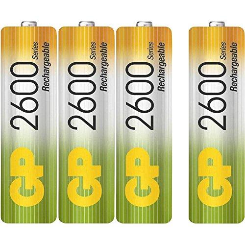 GP Batteries NiMH rechargeable batteries 2700 mAh Ni-Mh batterie rechargeable Hybrides nickel-métal (NiMH) 1,2 V - Batteries rechargeables (2700 mAh, Hybrides nickel-métal (NiMH), 1,2 V, Multicolore, 4 pièce(s))