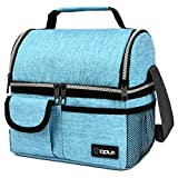 OPUX Insulated Dual Compartment Lunch Bag for Men, Women | Double Deck Reusable...