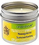 Sensazione d'estate candela di Greendoor massaggio bio, 100ml - emozionante cera di soia n...