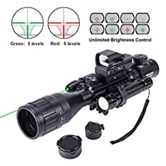 ULTIMATE 4-IN-1 COMBO: Includes the 4-16x50 rangefinder rifle scope for long-range targets, our trusted holographic reflex sight for short to medium range targets, green laser pointer for short-range/close quarters, and a 200-Lumen LED tactical flash...