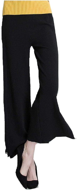 Tootca Women High Waist Strappy LooseFit Solid Open Fork Wide Leg Pants