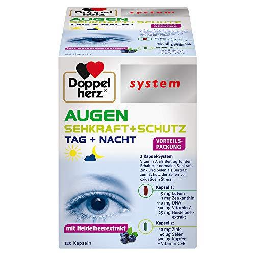 Doppelherz system AUGEN SEHKRAFT + SCHUTZ – Mit Vitamin A für den Erhalt der normalen Sehkraft – 120 Kapseln