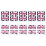 Amosfun Inglaterra Bandera Tatuaje Temporal A Prueba de Agua Cara Cuerpo de la Mano Desechables Pegatinas DIY Art Decals 10 Sets