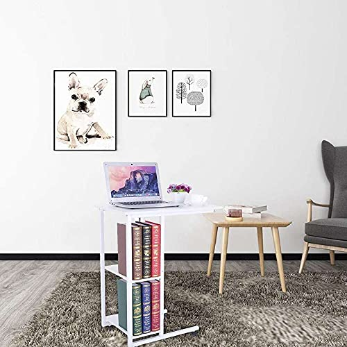 junmo shop Lazy Bedside Laptop Table with Storage for Entryway Hallway Sofa Side Table, Removable Computer Desk Laptop Lazy Table, Suitable for Work