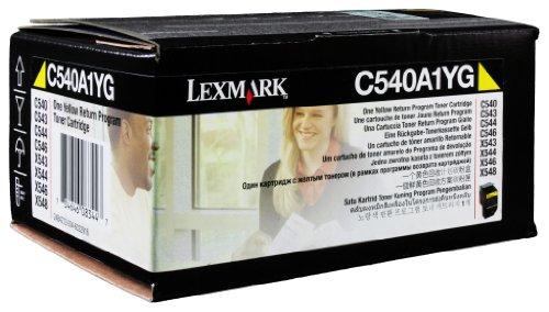 Lexmark C540A1YG C540, C543, C544, X543, X544 Tonerkartusche 1.000 Seiten Rückgabe, gelb