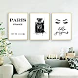 zszy Schwarzweiss Paris Vogue Kunstdruck Parfüm Poster