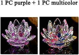SwiftSwan Fermacarte di Cristallo Ornamenti Decorazioni per la casa in Vetro Fiore di Loto