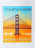 San Francisco - Vintage Style Travel Poster Large Cotton