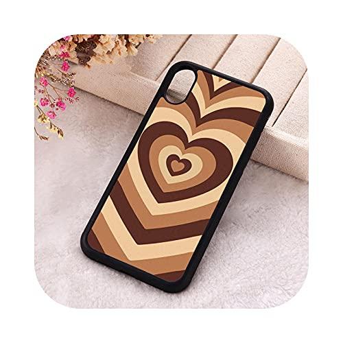 ETWJ 5 5S SE 2020 cover per iPhone 6 6S 7 8 Plus X Xs Max XR 11 12 MINI Pro morbido silicone latte amore caffè cuore per iPhone 12 MINI