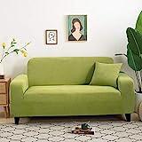 Fundas Sofas 3 y 2 Plazas Ajustables Verde Pistacho Fundas para Sofa Spandex Fundas Sofa Elasticas Estampadas Funda Sillon Universal Espesas Cubre Sofa Verano Modernas Fundas de Sofa
