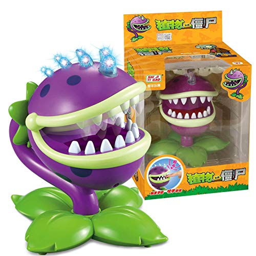 Piante contro zombi Giocattolo che morde il suono delle dita e estrazione dei denti leggeri Bocca Fiore cannibale Dr Shark Zombie Piante contro zombi Action Figures Giocattoli