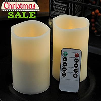 Set of 2 Ivory Candles