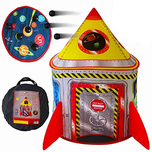 Playz 5-in-1 Rocket Ship Play Tent