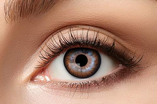 Zoelibat Natürlich Farbige Kontaktlinsen für 12 Monate, Ton72, 2 Stück, BC 8.6 mm / DIA 14.5 mm, Jahreslinsen in Markequalität, braun