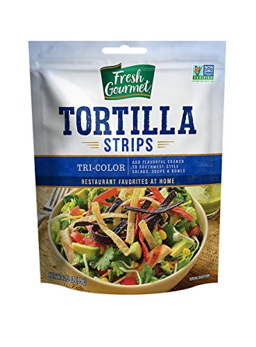 Fresh Gourmet Tortilla Strips, Tri-Color, 3.5 Ounce (Pack of 9)