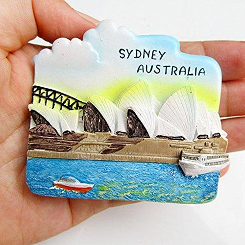 NingdeCK Kühlschrankmagnet, Souvenir, handbemalt, moderne Heimdekoration, Wohnlandschaft, Kunstharz (Sydney)