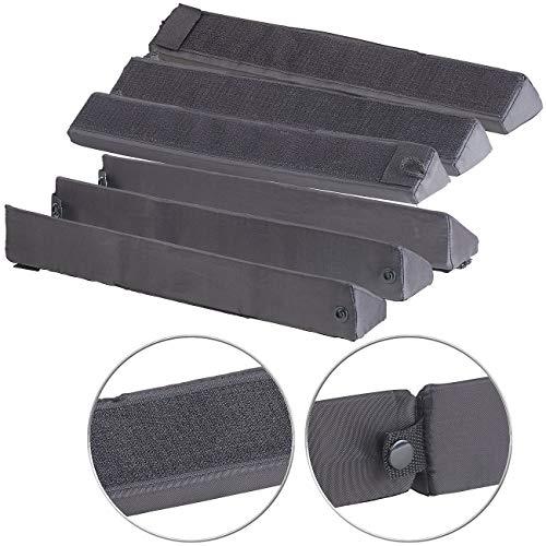 PEARL Kofferraum Befestigung: 2er Pack Kofferraum-Gepäckfixierung aus Schaumstoff/Nylon,3-teilig (Kofferraum Halterung)