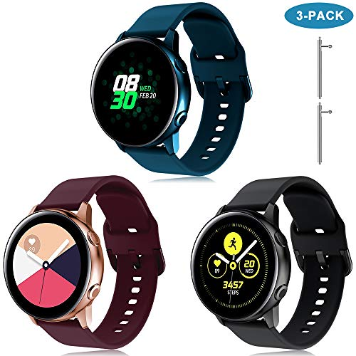 TOPsic Galaxy Watch Active 40mm Armband, 20mm Universal Ersatzarmband für Samsung Galaxy Watch Active2/Galaxy Watch 42mm/Gear Sport/Gear S2 Classic/Garmin Vivoactive 3 Armband Uhrenarmband