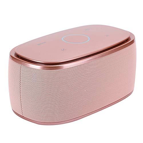 Altavoces Bluetooth Multifunción, Mini Altavoz Portátil con Llamadas Manos Libres, Altavoz Inalámbrico para el Hogar que Admite Reproducción de Tarjetas TF de Forma Independiente (32 GB)(dorado)