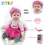 ZIYIUI 22' Realistische Reborn Baby Puppe Kind Handgemachtes Mädchen Weiche Silikon Vinyl Kleinkind Magnetisch Mund