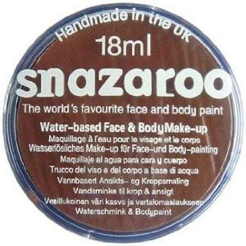 Snazaroo- Face and Body Paint, 18999, Brun
