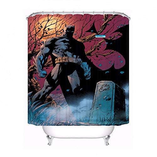 AYogg Duschvorhang Benutzerdefinierte wasserdichte Duschvorhang Batman vs Superman Bedruckte Badezimmer Dekor Verschiedene