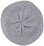 JULY SHEEP Women's Knitted Beret hat Wool Braided hat French Beret for Winter Autumn Black