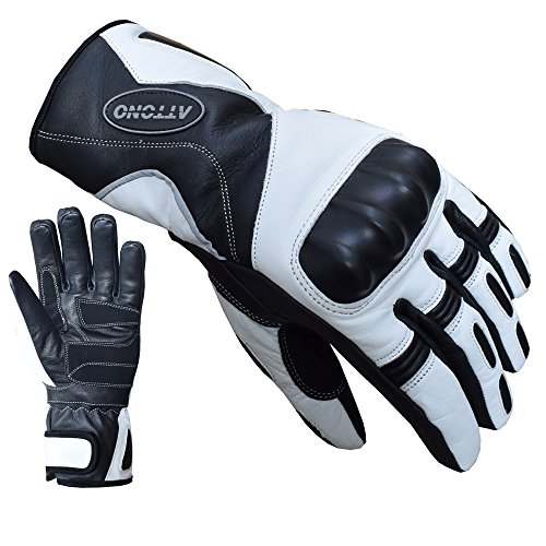 ATTONO Skihandschuhe Leder Ski Racing Handschuhe V01 wasserdicht - Größe M