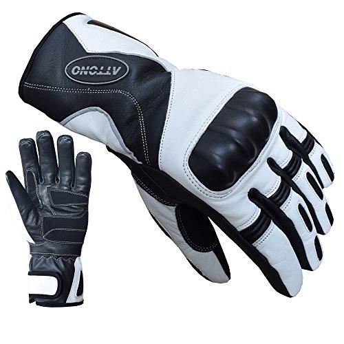 ATTONO Skihandschuhe Leder Ski Racing Handschuhe V01 wasserdicht - Größe L