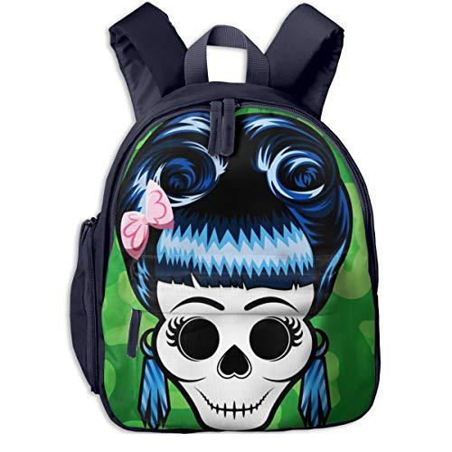 Mochilas Infantiles, Bolsa Mochila Niño Mochila Bebe Guarderia Mochila Escolar con Blue Pinup Rockabilly Girl para Niños De 3 A 6 Años De Edad