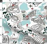 Topographie, Landkarte, Wandern, Zelten, Bären, Angeln