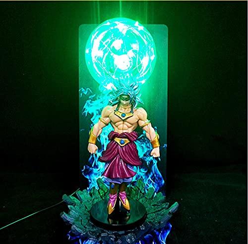 Anime Dragon Ball z Night Light Lámpara de mesa LED Luminoso creativo Juguete Dragon Ball Broly Figurita Noche Luz Verde