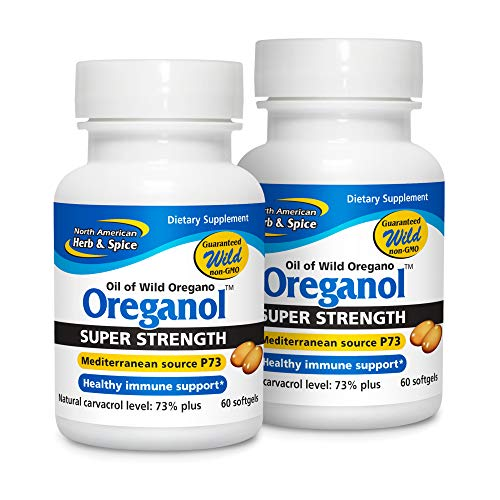 North American Herb and Spice Co., Oreganol Super Strength Oil of Wild Oregano, 60 Softgels per bottle (Pack of 2)