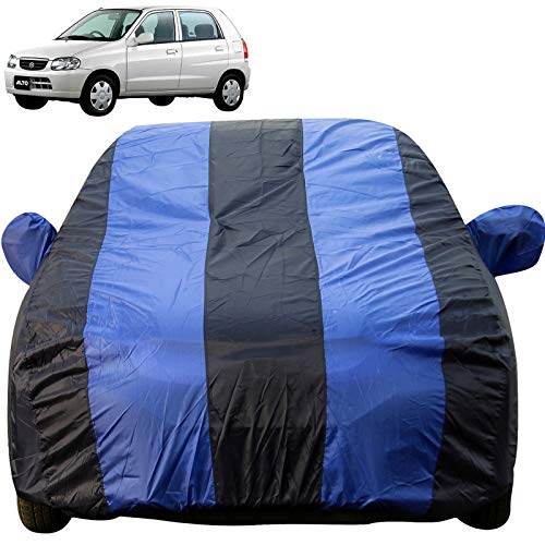Autofact Car Body Cover with Mirror Pockets Compatible for Maruti Alto Old Model (2000 to 2014) (Triple Stitched, Bottom Fully Elastic, Royal Blue Color)