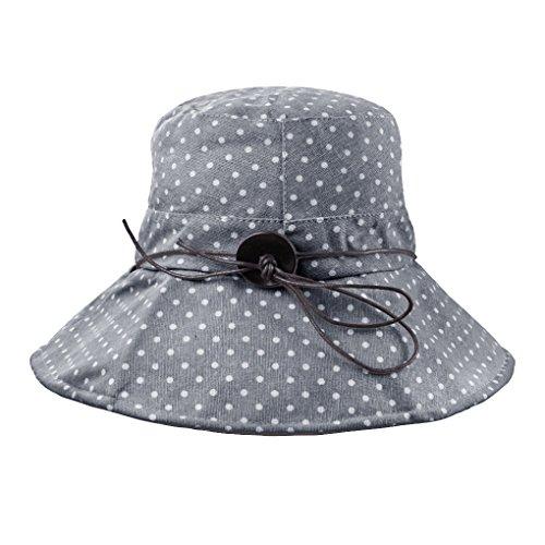 FakeFace Damen Hut Kappe Sonnenhut aus Baumwolle Sonnenschutz Strandhut Verstelltbare Hüte Kappe Anti-UV-BLAU