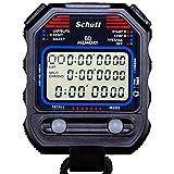 Schütt Stoppuhr PC-90 (60 Memory Speicher | Uhrzeit & Datum | Dualtimer) - Digital Profi Stoppuhr...