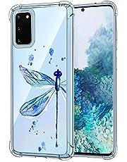 Suhctup Compatible con Samsung Galaxy S7 Funda para Silicona con Dibujos Animados Diseño Cárcasa Ultra-Fina Transparente Suave TPU Choque Cojín de Esquina Parachoque Caso-Libélula Azul