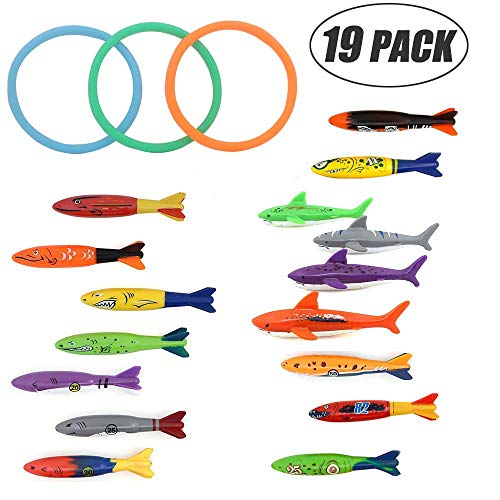 Mysj Pool Toys, Diving Torpedo Family Suit (19 Pack)