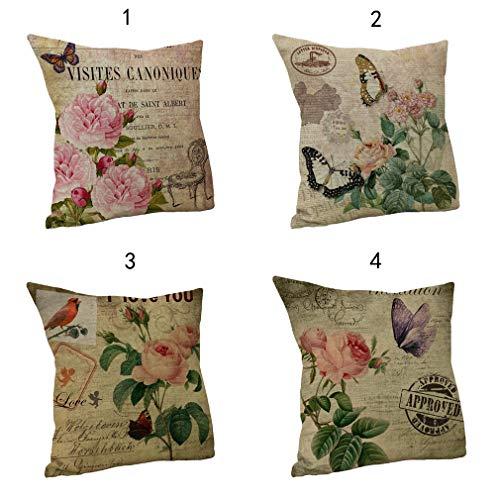 Nunubee Baumwolle leinen Kissenbezug Umarmung Schmetterling wohnkultur Sofa Abdeckung A-Gruppe